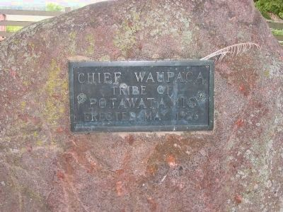 Chief Waupaca Gravestone image. Click for full size.