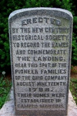 Pioneer Families of the Ohio Company Marker image. Click for full size.