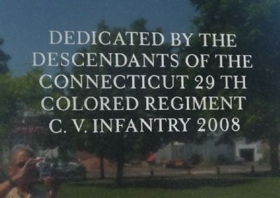 The Connecticut Twenty-Ninth Colored Regiment, C. V. Infantry Marker - image. Click for full size.
