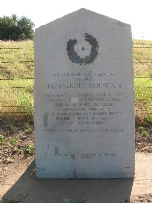 Packsaddle Mountain Marker image. Click for full size.