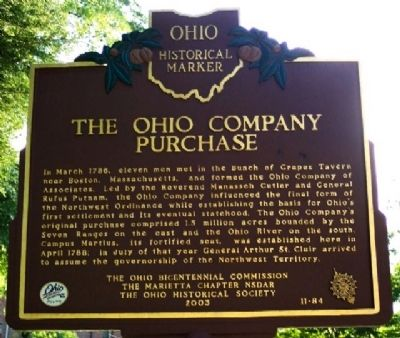 The Ohio Company Purchase Marker (Side B) image. Click for full size.
