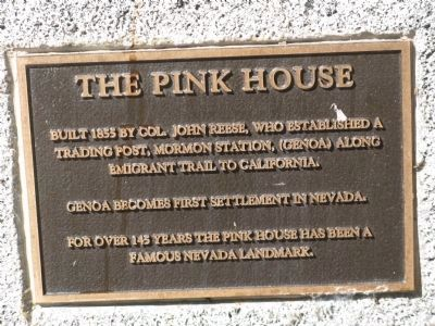 The Pink House Marker image. Click for full size.