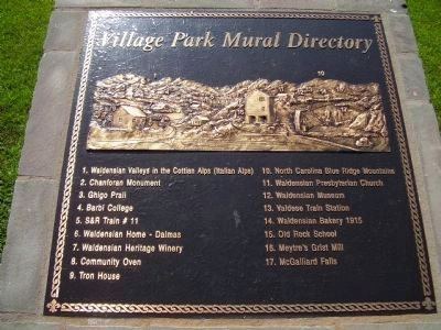 Village Park Mural Directory image. Click for full size.