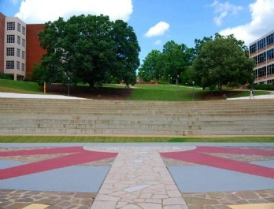 Outdoor Theater (Amphitheater) Seating <br>Clemson University Historic District #2 image. Click for full size.