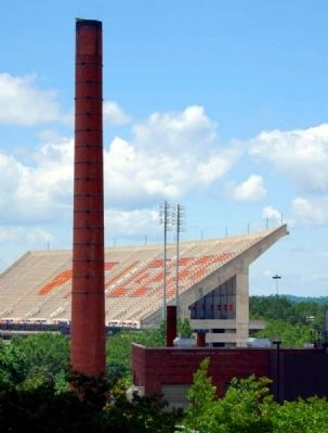 "Memorial Stadium (""Death Valley"") -<br>From Rear Patio of Student Union image. Click for full size."