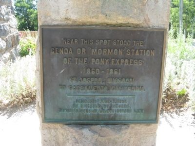 "Genoa or ""Mormon Station"" of the Pony Express Marker image. Click for full size."