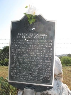 Early Explorers in Llano County Marker image. Click for full size.