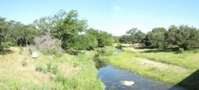 Nearby Honey Creek, referenced on marker. image. Click for full size.