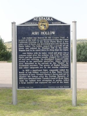Ash Hollow Marker image. Click for full size.