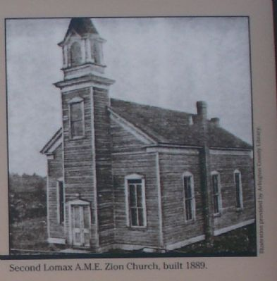 Second Lomax A.M.E. Zion Church built in 1889. image. Click for full size.