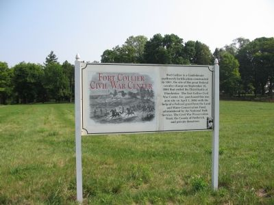 Entrance to Fort Collier Civil War Center image. Click for full size.