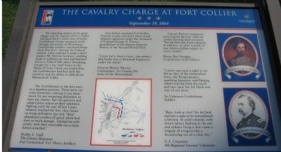 The Cavalry Charge at Fort Collier Marker image. Click for full size.