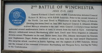 2nd Battle of Winchester Marker image. Click for full size.