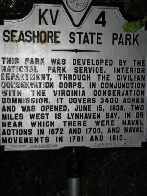 Seashore State Park Marker image. Click for full size.