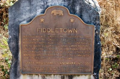 Fiddletown Marker image. Click for full size.