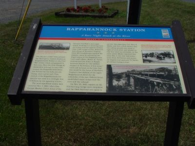 Rappahannock Station Marker image. Click for full size.
