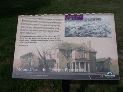 Mount Clare, the Georgia Plantation Marker image. Click for full size.