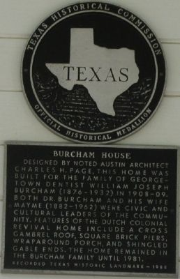 Burcham House Marker image. Click for full size.