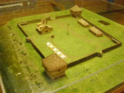 Diorama of Fort Sackville image. Click for full size.