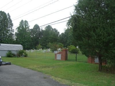 Ebenezer Cemetery and Gate image. Click for full size.