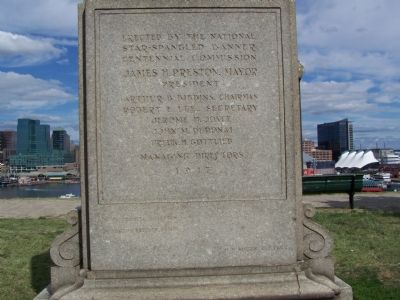 Rear of Monument image. Click for full size.
