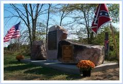 Monument for The Confederate Invasion of Iowa in Davis County, Iowa. image, Touch for more information