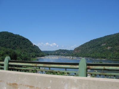 Harpers Ferry from Down River image. Click for full size.