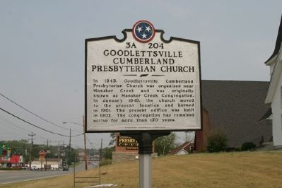 Goodlettsville Cumberland Presbyterian Church - Taken Facing North image. Click for full size.
