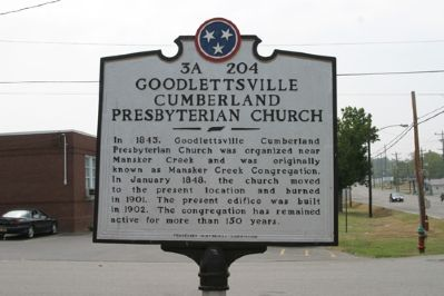 Goodlettsville Cumberland Presbyterian Church - Taken Facing South image. Click for full size.