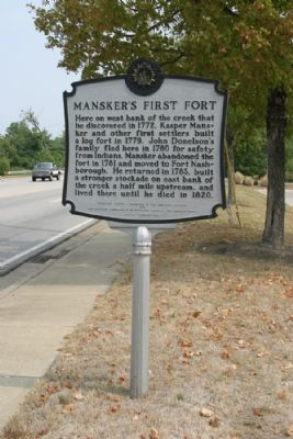 Mansker's First Fort - Taken Facing East image. Click for full size.