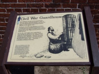 Civil War Guardhouse Marker image. Click for full size.