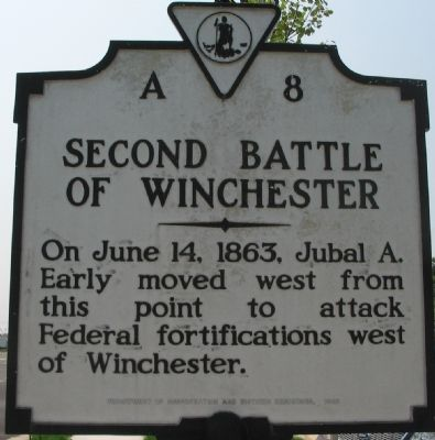 Second Battle of Winchester Marker image. Click for full size.