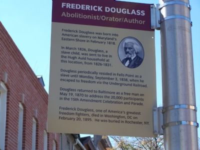 Frederick Douglass Abolitionist/Orator/Author Marker image. Click for full size.