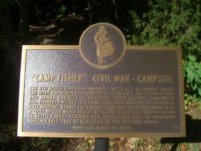 """Camp Fisher"" Civil War – Campsite Marker image. Click for full size."