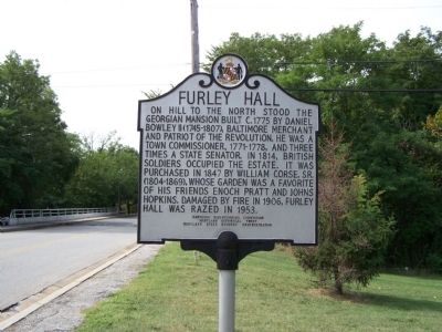 Furley Hall Marker image. Click for full size.