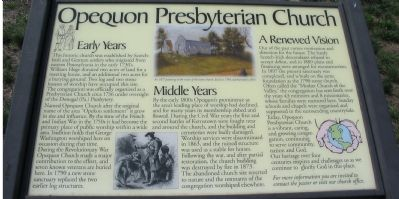 Opequon Presbyterian Church Marker image. Click for full size.