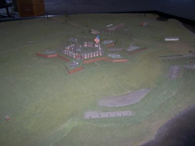 Visitor Center model of Fort McHenry as it looked in 1814. image. Click for full size.
