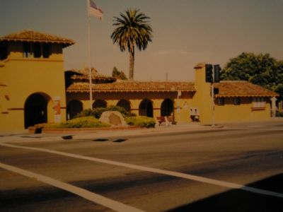 Burlingame Railroad Station and Marker image. Click for full size.