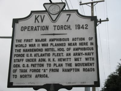 Operation Torch 1942 Marker image. Click for full size.