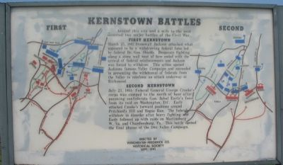 Kernstown Battles Marker image. Click for full size.