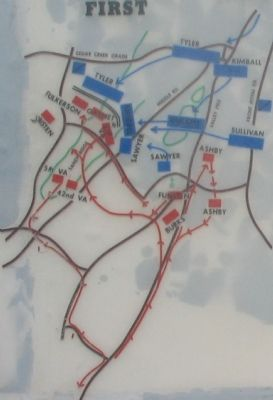 Close Up View - First Kernstown Battle Map image. Click for full size.