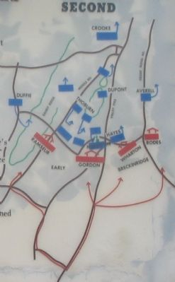 Close Up View - Second Kernstown Battle Map image. Click for full size.