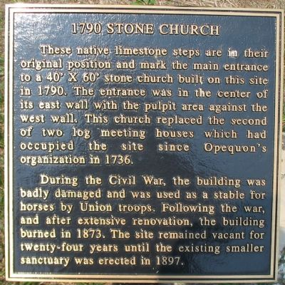 1790 Stone Church Marker image. Click for full size.