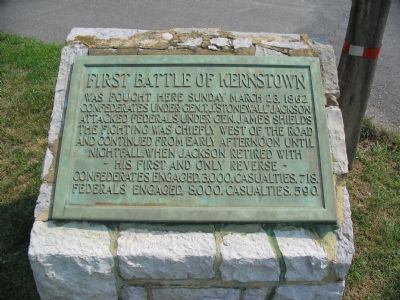 First Battle of Kernstown Marker image. Click for full size.