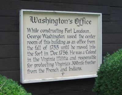 Washington's Office Marker image. Click for full size.