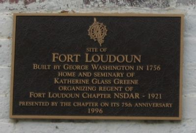 Site of Fort Loudoun Marker image. Click for full size.