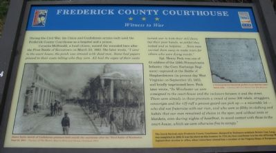 Frederick County Courthouse Marker image. Click for full size.