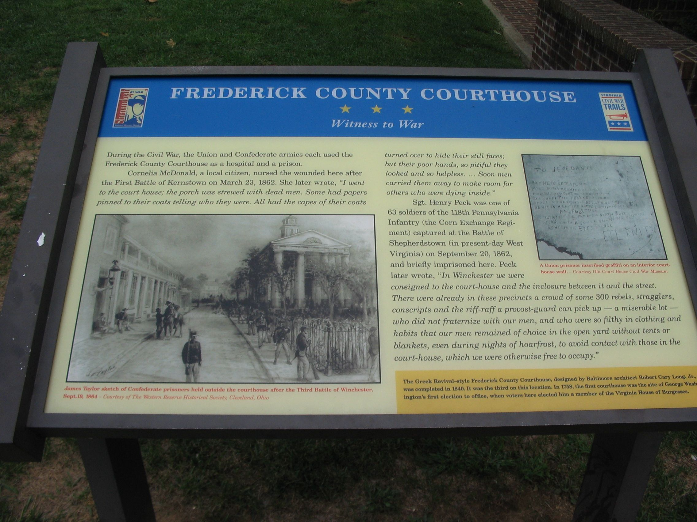 Frederick County Courthouse Marker