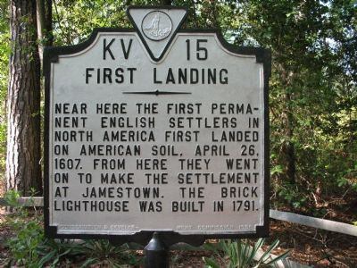 First Landing Marker image. Click for full size.