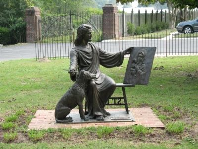 St. Luke Statue image. Click for full size.